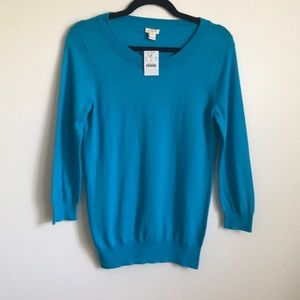 J. Crew Factory Crew Sweater (Teal) - S NWT